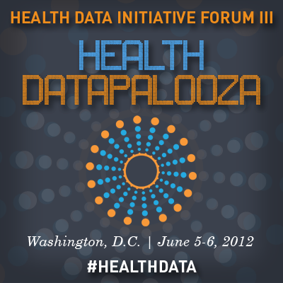 Tomorrow my colleagues and I will be attending the Health Datapalooza right here in DC! According to the event description -  The Health Datapalooza will feature keynote addresses, a Data & Apps Expo, demonstrations of cutting-edge apps, hands-on data deep dives, and thought-provoking panel discussions. There will also be plenty of time for networking and one-on-one interaction.  I'm looking forward on coming away with great tidbits to share on the blog. And as always you can follow along with me on Twitter (or using the #healthdata hashtag)