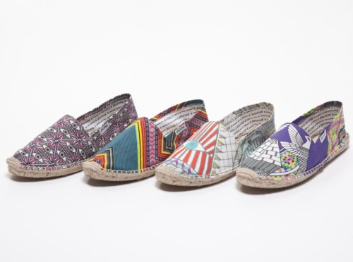 Espadrille experts Soludos have joined forces with beachwear maven Mara Hoffman on a capsule collection of pop-printed kicks that will take you everywhere from the sand to the sidewalk.  Soludos for Mara Hoffman, $45, soludos.com.
