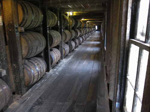 Bourbon in the process of aging at Heaven Hill