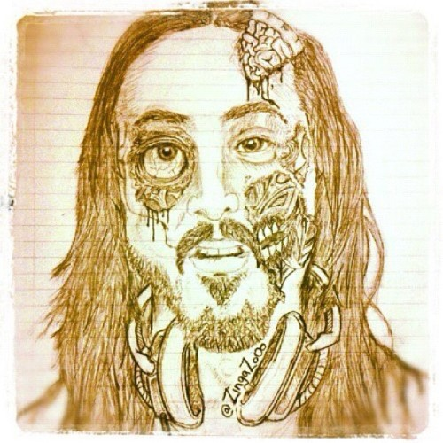 lol! #SteveAoki #Miami next show jaja #edm #drawings #awesome (Taken with instagram)