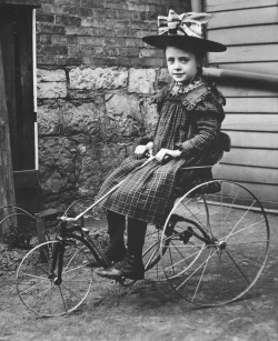 Adelia Matter on a tricycle, c. 1900. Photograph by Walter Matter. Want a copy of this photo?  > Visit our Rights and Reproductions Department and give them this number: ICHi-03112. Connect with the Museum