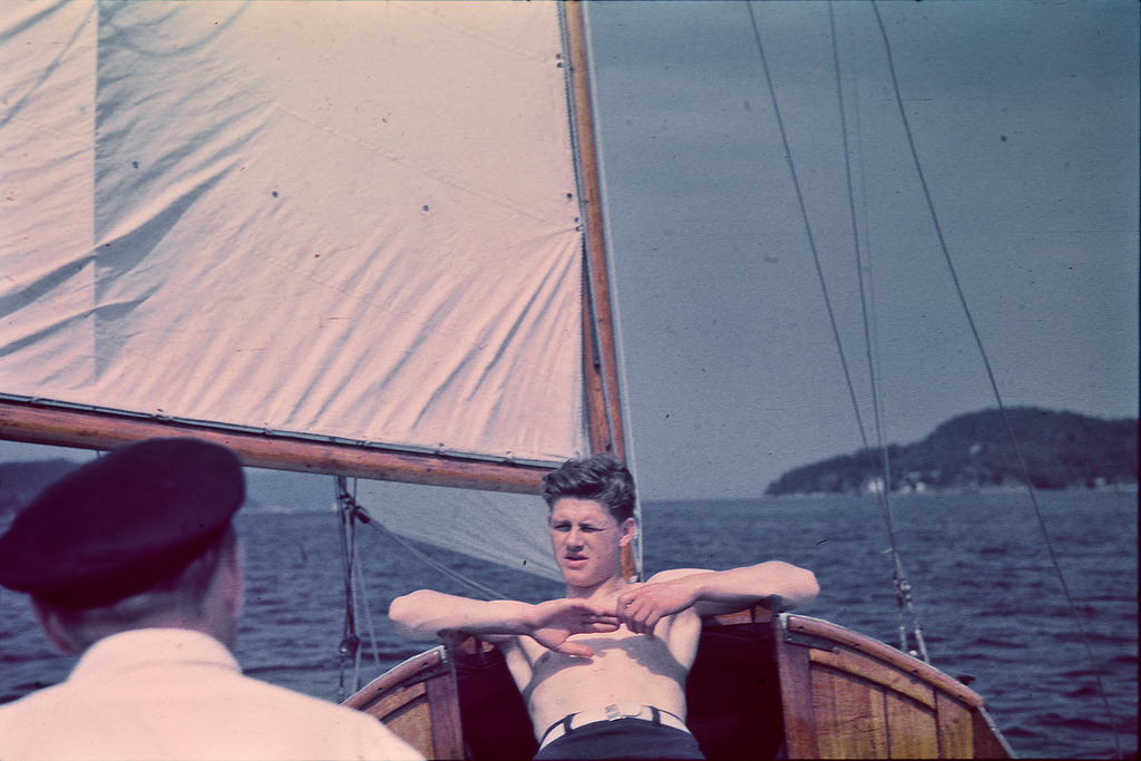 Sailboat in the Oslo fjords. 1937.