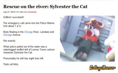 Rescue on the river - Sylvester the Cat Tweety is wanted for questioning
