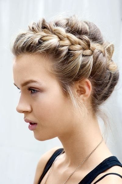 Crown Braid, more styles at blog.