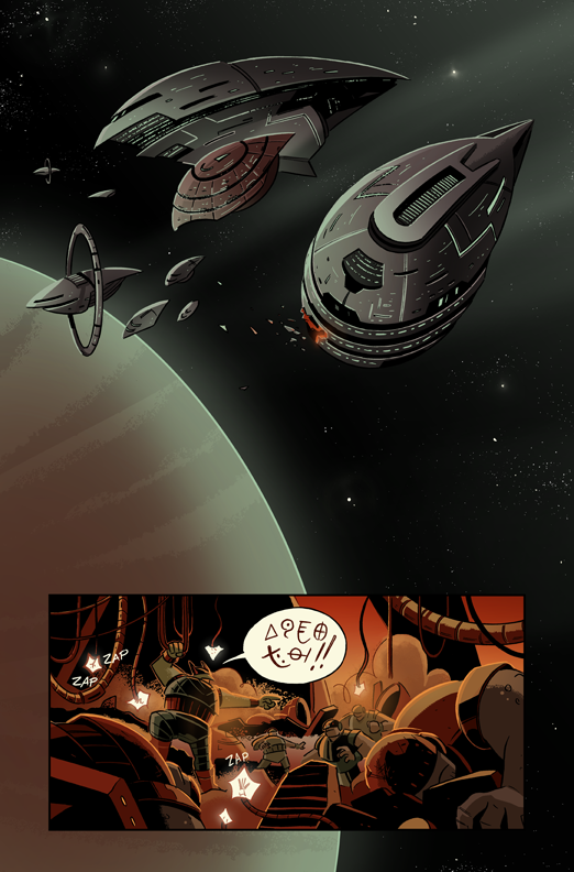 First page of my webcomic Cleopatra in Space Chapter 3- which just started today after almost a year off! If you'd like, you can read from the beginning HERE.