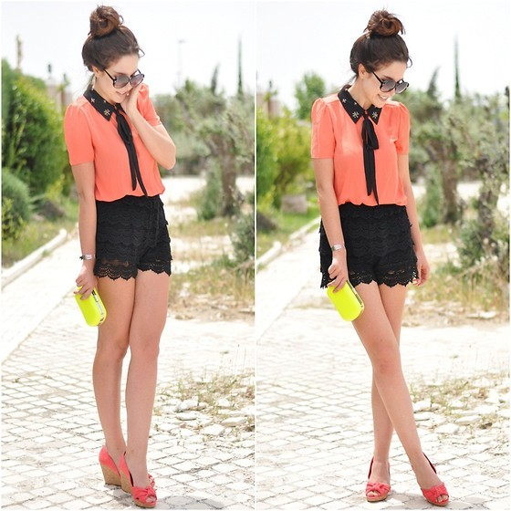 Love coral, love lace. (by Crris LoveShoppingandFashion)
