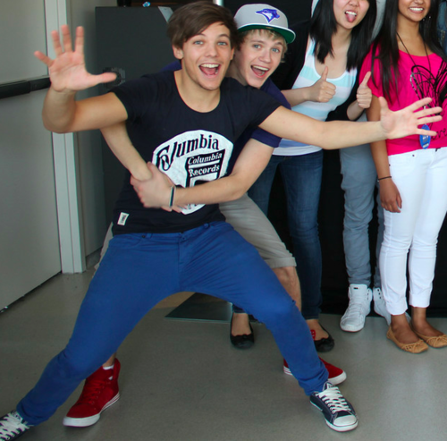 Today, at M&G, Niall & Louis being.. well.. them!