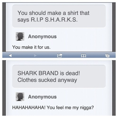 People hating big on Sharks.  www.wekillyoueat.org