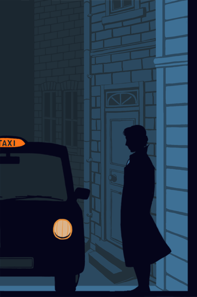 bakerstreetbabes:  qwertyprophecy:  Taxi for Sherlock Holmes  Cool atmosphere.