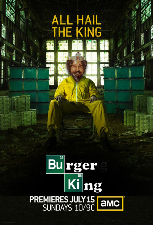 laughingsquid:  Rejected Poster for 'Breaking Bad' Season 5