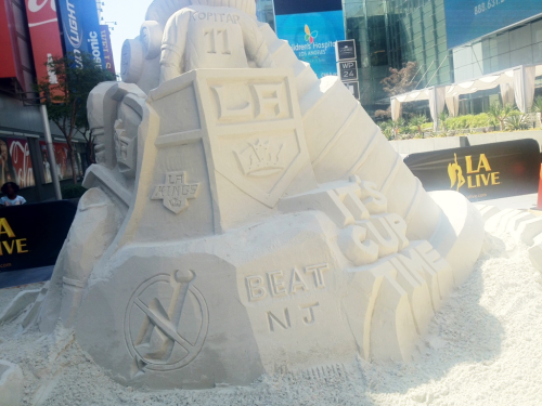 New addition to the sand sculpture. :D