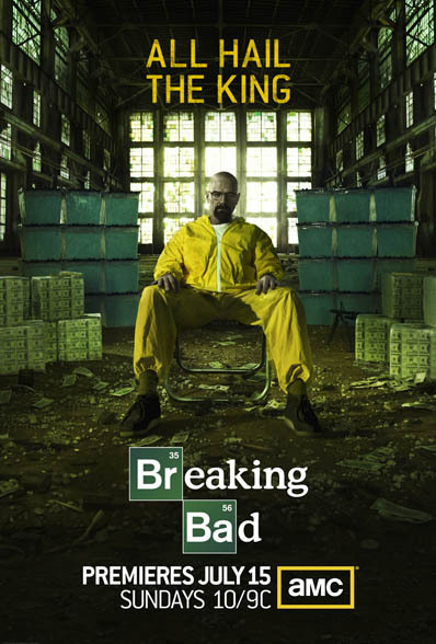 AMC has released the new poster for Breaking Bad Season 5.  It's a different approach than season 4's poster which relied solely on the iconic persona of Bryan Cranston's character.