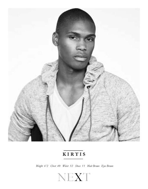 blackmalemodels:  Show Packages - London S/S 13 - Kirtis @ Next London