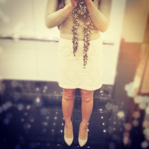 #ootd. Classy casual. #neutrals #leopard #lace (Taken with instagram)