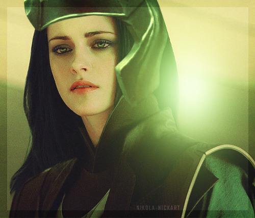nikola-nickart:  THE AVENGERS - GENDER SWAP  Loki - Kristen Stewart
