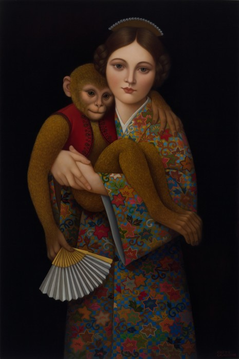 art-and-fury:  Girl With Monkey - Collete Calascione