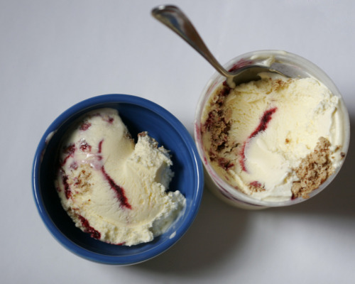 milkmadeicecream:  flavor of the day: Shireshack's Blackberry Piesugar cookie ice cream with blackberry pie and a salty pretzel crustWe have the extreme pleasure of having Reese from Shireshack Ice Cream Factory intern with us this summer.  Not only is he an amazing kitchen and office assistant, but he makes us delicious pints of ice cream too. This is our first taste of their creations - Blackberry Pie. It is definitely as good as it looks.   That looks wonderful