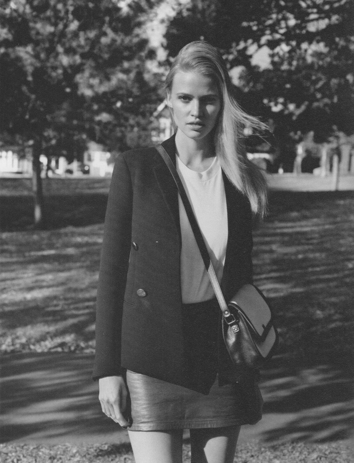Lara Stone by Alasdair McLellan for i-D Pre-Spring 2012