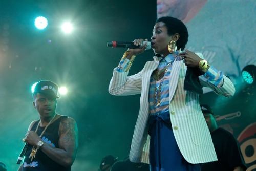 Lauryn Hill in William Okpo SS12 pants
