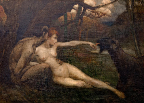 Franz von Stuck - Tempting nymph, 1890