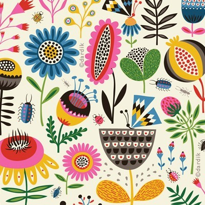 pink-gypsy-cats:  (via Pattern Perfect / orange you lucky!: summer's garden …)