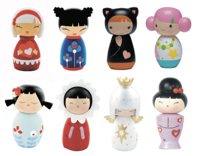 Momiji are handpainted resin message dolls. Turn them upside down…inside every one there's a tiny folded card for your own secret message. $13.95 - $16.95
