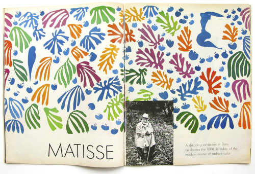 "artisandoflove:  Late de Kooning on late Matisse Matisse, too, was often in his thoughts. He admired the graphic simplicity of La Danse, which he had often seen in the Museum of Modern Art, and he loved the spirit of the cutouts. ""Lately I've been thinking,"" he said in 1980, ""that it would be nice to be influenced by Matisse. I mean, he's so lighthearted. I have a book about how he was old and he cut out colored patterns and he made it so joyous. I would like to do that, too- not like him, but joyous, more or less."""