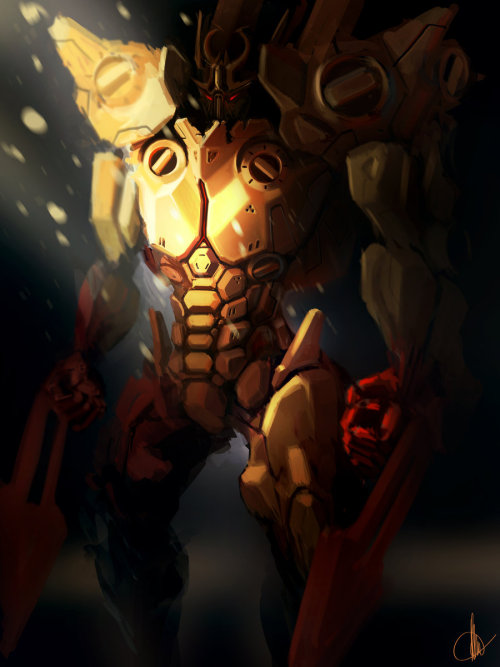 creaturesfromdreams:  badguy? by ~scifipsychoboy —-x—- More: | Robots | Random |