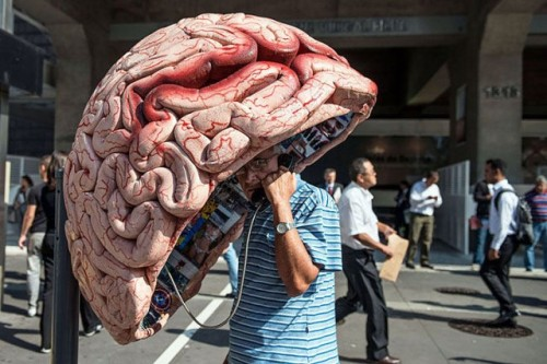 laughingsquid:  Giant Brain Phone Booth
