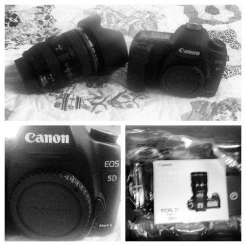 HAPPY DAY! Mark II has arrived.  (Taken with instagram)