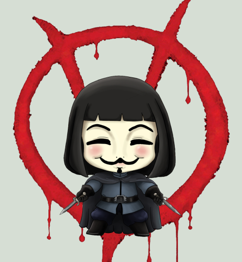 herochan:  V for Vendetta Chibi Created by RanNiwa