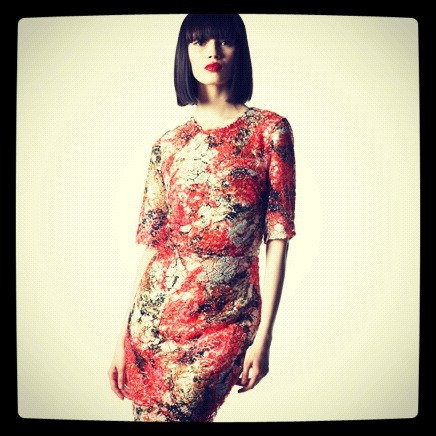 Wear now and straight into Fall: a sequined floral print from Erdem. (Cherry lips to match!)