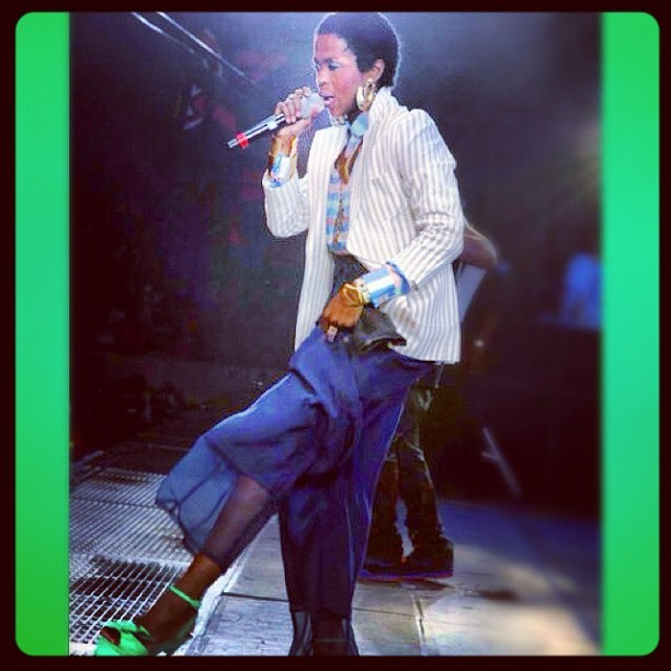 Lauryn Hill performing at Summer Jam #2012 at the MetLife Stadium, June 3rd.  (Taken with instagram)