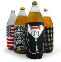 "From The 40oz Cozy Store:  ""Each of our koozies come with a handle to help you hold onto your drink when the night gets long."" 'Cause it's always a long night when a 40oz is involved.  I would salute the shit out of that Amurrican flag cozy. All hail the red, white, and true."