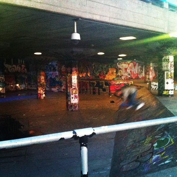 #southbank #graffiti #london #rude (Taken with instagram)
