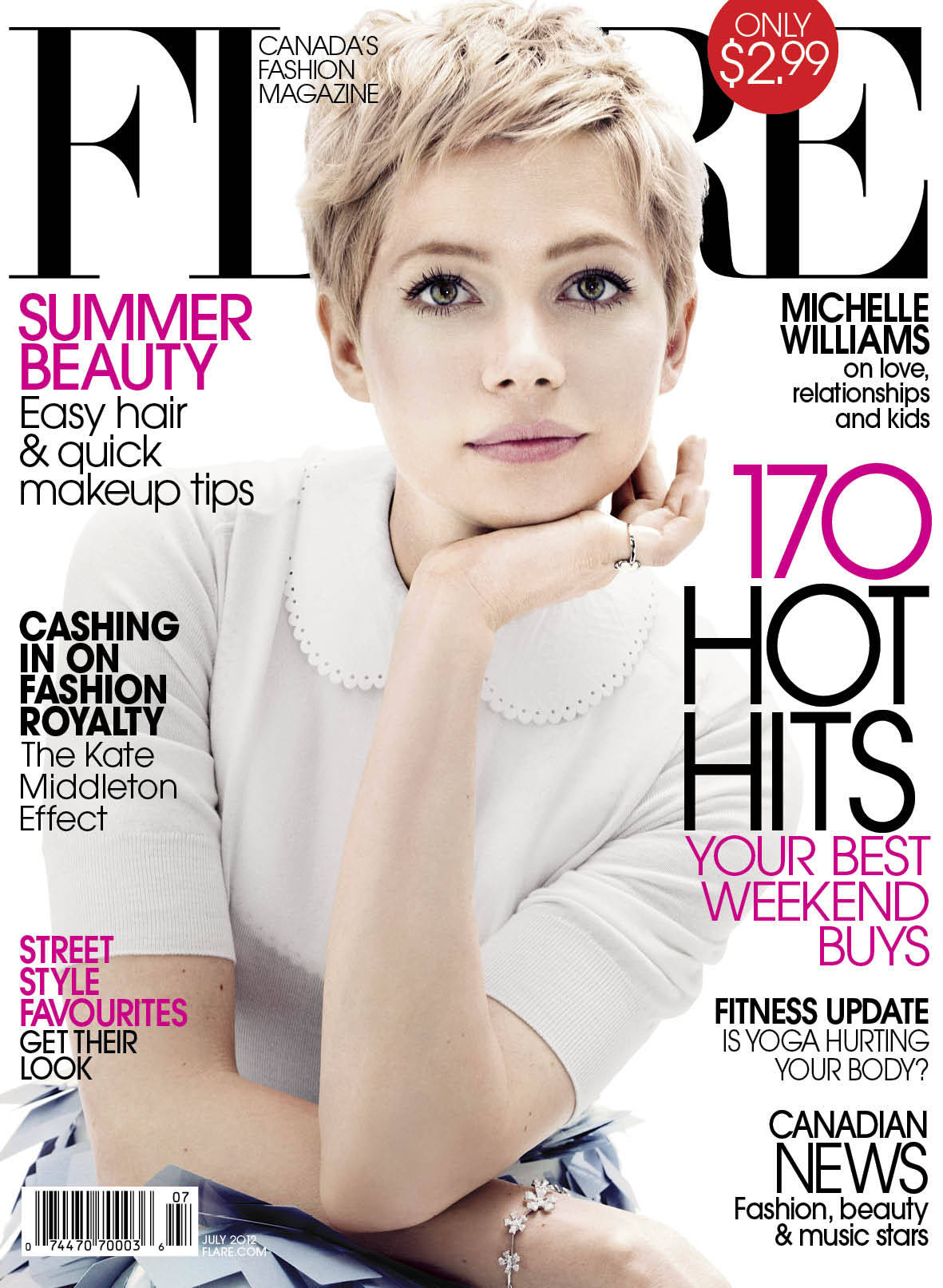 yelyahwilliams:  loveforfashion:  Michelle Williams Covers 'Flare' July 2012. Photographer: Alexei Hay  Woweeee