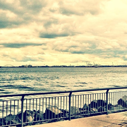 Red Hook #brooklyn #sky #nyc #cityscape #port (Taken with instagram)