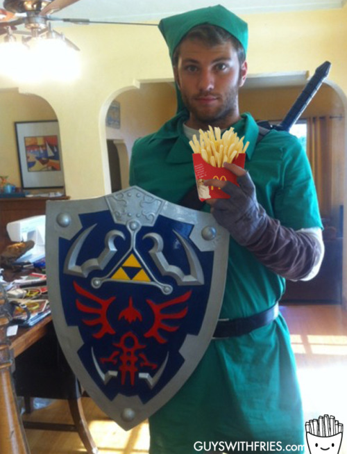 tyra-male:  guyswithfries:  NINTENDO FRIES!! anyone else at E3?  WHHAT DREAM MAN  it's dangerous to go alone! take this…