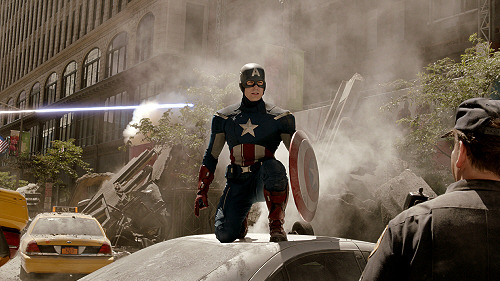 ruesflight:  {10/25} photos of The Avengers stills