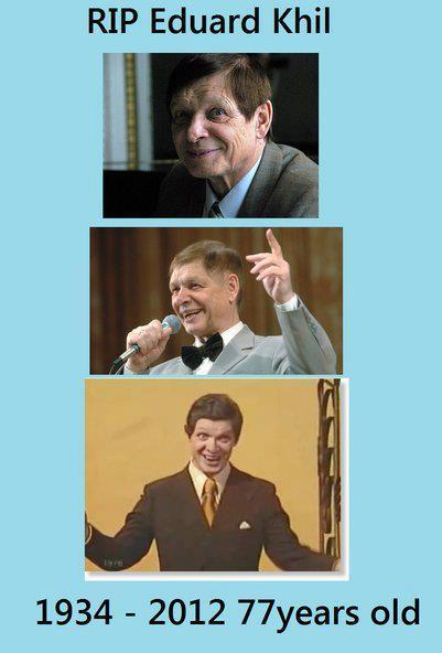 "so-can-we-fuck-now-that-i:  Эдуард Хиль, or, Eduard Khil has passed away as of June 3rd/4th. He was a famous Red Army Choir singer as well as a popular internet sub-culture figure, when he was two years ago dubbed as the ""Trololo Guy"". He died at the age of 77 in Saint Petersburg, Russia after having a fatal stroke that caused permanent brain damage. R.I.P, Eduard Khil. You probably had no clue why today's culture took you by storm when you started in the 70s, but you've made international news now and you'll be sorrowfully missed."