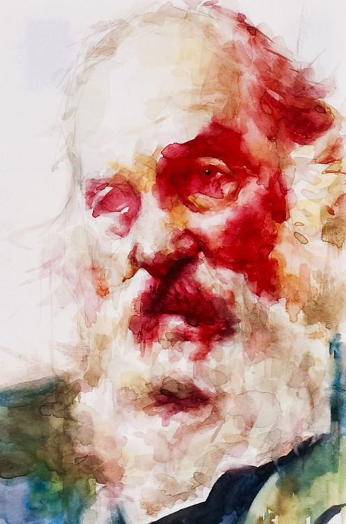 alecshao:  Akira Beard - Walt Whitman, 2010 - watercolor on paper