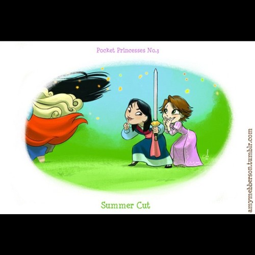 therebirthofus:  #summer #cut #mulan #tangled #disney #funny #lol #movie #comic #pocketprincesses #ariel #thelittlemermaid #aurora #sleepingbeauty #Pocahontas #rapunzle (Taken with instagram)
