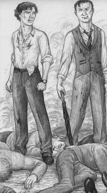 Beautifulfic wanted a pic of BAMF!Holmes brothers. Well, here they are. Wouldn't want to be one of the guys on the ground …