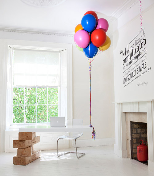 hot air balloon desk at Boys and Girls ad agency in dublin [via d*s]