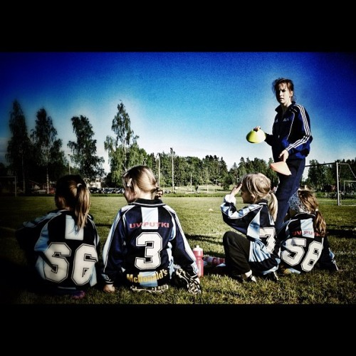 My daughter's first official football match.  (Taken with instagram)