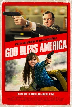 GOD BLESS AMERICA 2.5 stars out of 4 God Bless America has a lot of things to say about reality TV, blowhard politicians, right-wing extremism, and the desensitizing role of violence. In fact, writer/director Bobcat Goldthwait, whose last effort was the underrated 2009 dark comedy World's Greatest Dad, has so many things to say that he ends up making what amounts to a stand-up comedy routine coupled with a long-winded op-ed piece. Had this been a college term paper, it would no doubt read as a shrewd and entertaining take on the current state of pop culture, but Goldthwait has forgotten to actually craft a cohesive movie to support his opinions. One can agree with just about every point he raises while still admitting that as a film, God Bless America is a rather flimsy excuse for one angry diatribe. READ FULL REVIEW HERE