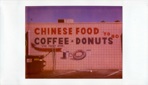 heyoscarwilde:  Chinese Food, Coffee & Donuts photograph by Nick Leonard :: via nickleonard  Oh my gosh! Where?!