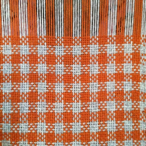 Gingham! #weaving #yarn #gingham #fabric (Taken with instagram)