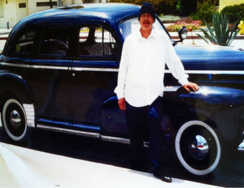 Daddy's posted with his 1946' Chevy <3 -http://losangelesbabee.tumblr.com/