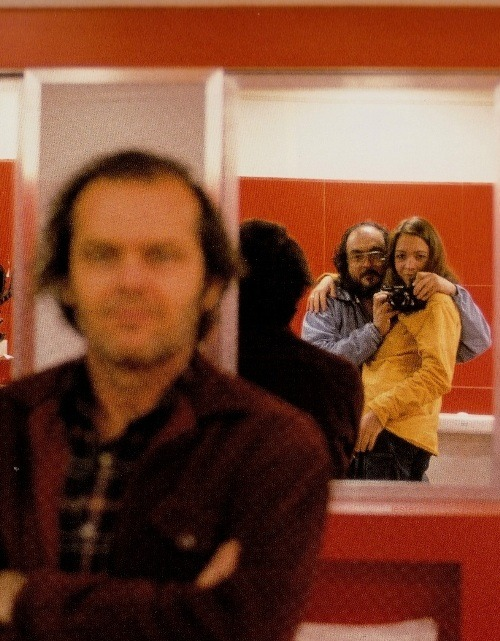 lestercorp:  Jack Nicholson, Stanley Kubrick and Vivian Kubrick on the set of The Shining